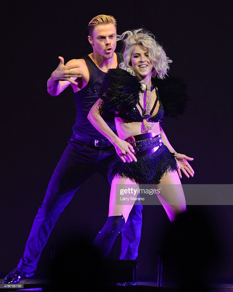 Derek Hough and Julianne Hough perform during Move Live on Tour at Hard Rock Live held at the Seminole Hard Rock Hotel & Casino on June 26, 2015 in Hollywood, Florida.