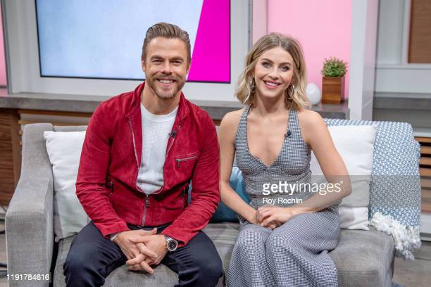Derek Hough and Julianne Hough visit People Now on December 03 2019 in New York City