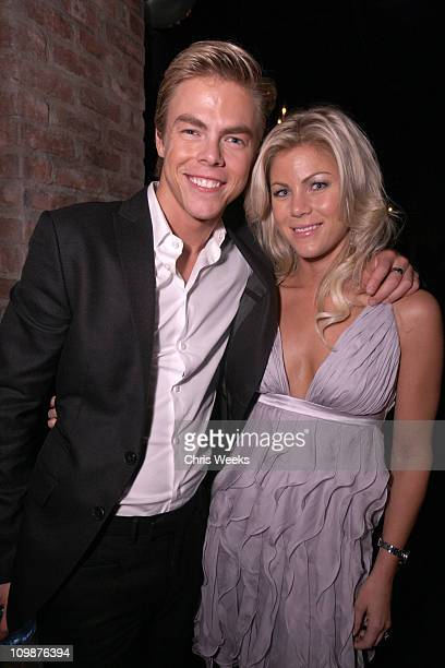 Derek Hough and Marabeth Hough attend Kelly Osbourne's birthday party held at hwood on October 26 2009 in Hollywood California