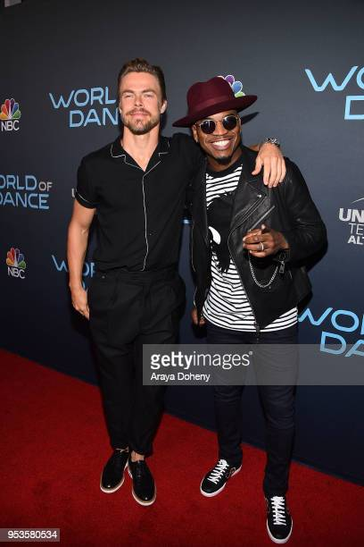 """Derek Hough and Ne-Yo attend FYC Event For NBC's """"World Of Dance"""" at Saban Media Center on May 1, 2018 in North Hollywood, California."""
