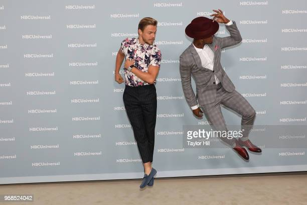 Derek Hough and NeYo attend the 2018 NBCUniversal Upfront Presentation at Rockefeller Center on May 14 2018 in New York City