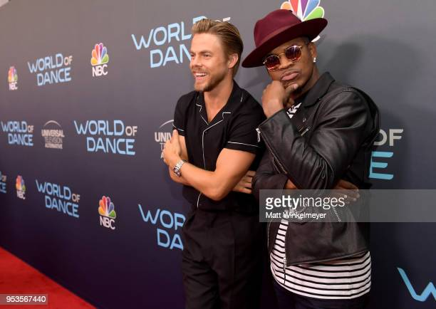 """Derek Hough and Ne-Yo attend the FYC event for NBC's """"World of Dance"""" at Saban Media Center on May 1, 2018 in North Hollywood, California."""