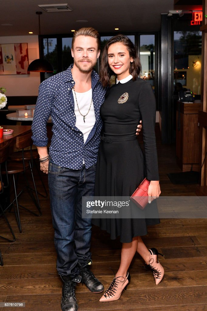 Derek Hough And Nina Dobrev Attend Nina Dobrev Celebrates The Harper News Photo Getty Images