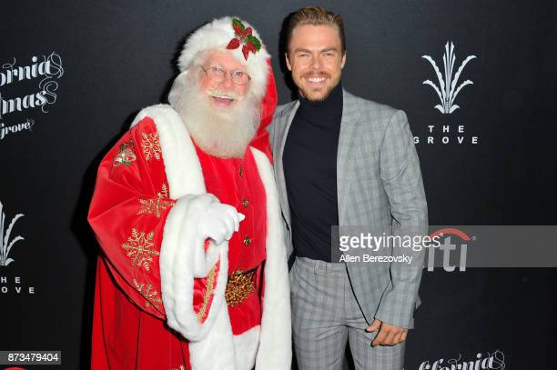 Derek Hough and Santa Claus attend A California Christmas at The Grove Presented by Citi on November 12 2017 in Los Angeles California