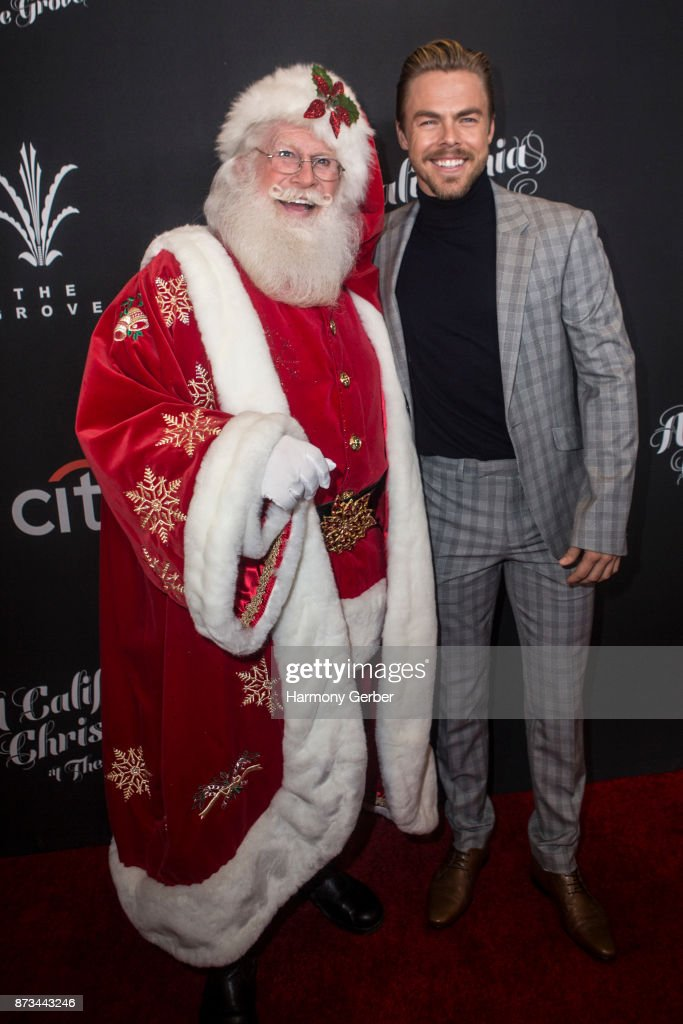 Derek Hough and Santa Claus attend the California Christmas at The Grove on November 12, 2017 in Los Angeles, California.