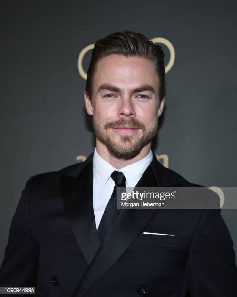 Derek Hough arrives at Amazon Prime Video's Golden Globe Awards After Party at The Beverly Hilton Hotel on January 06 2019 in Beverly Hills California