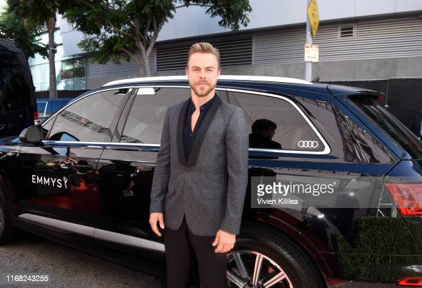 Derek Hough arrives at Audi Celebrates the 71st Creative Arts Emmy Awards at the Microsoft Theater on September 14 2019 in Los Angeles California