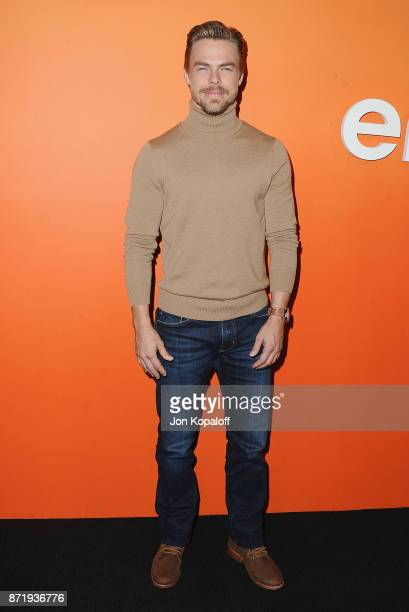 Derek Hough arrives at Ember Launch Celebrating A Journey Through Temperature And Taste at Goya Studios on November 8 2017 in Los Angeles California
