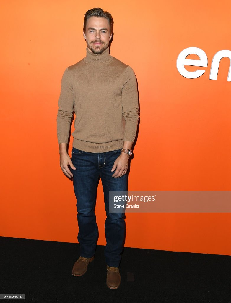 Derek Hough arrives at the Ember Launch - Celebrating A Journey Through Temperature And Taste at Goya Studios on November 8, 2017 in Los Angeles, California.