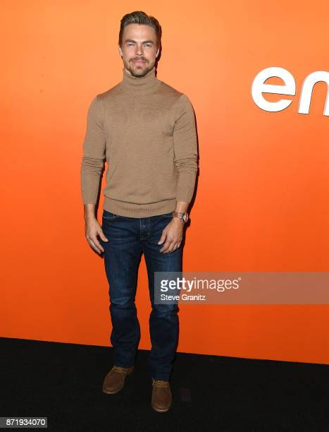 Derek Hough arrives at the Ember Launch Celebrating A Journey Through Temperature And Taste at Goya Studios on November 8 2017 in Los Angeles...