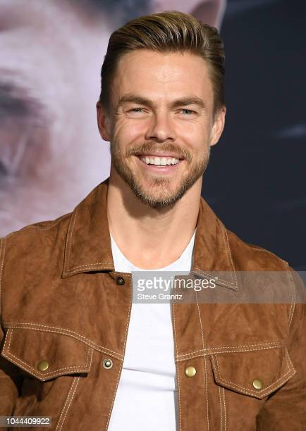 Derek Hough arrives at the Premiere Of Columbia Pictures' 'Venom' at Regency Village Theatre on October 1 2018 in Westwood California