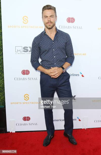 Derek Hough arrives to the 33rd Annual CedarsSinai Sports Spectacular Gala held on July 15 2018 in Los Angeles California