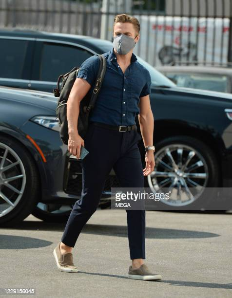 Derek Hough arriving at the ' Dancing with the Star' rehearsal on October 17 2020 in Los Angeles California Photo by CrownMedia/MEGA/GC Images
