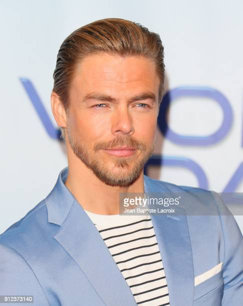 Derek Hough attends a photo op for NBC's 'World Of Dance' on January 30 2018 in Burbank California