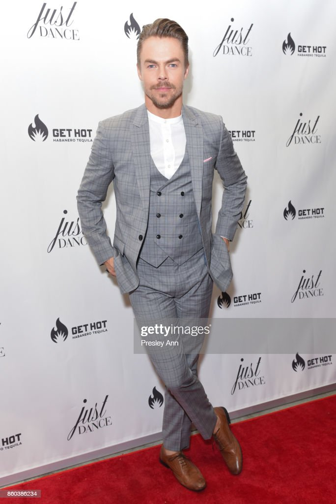 Derek Hough attends grand opening event for JustDance LA at Just Dance Los Angeles on October 11, 2017 in Studio City, California.