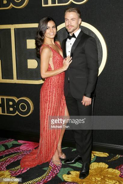 Derek Hough attends HBO's Post Emmy Awards reception held at The Plaza at the Pacific Design Center on September 17 2018 in Los Angeles California