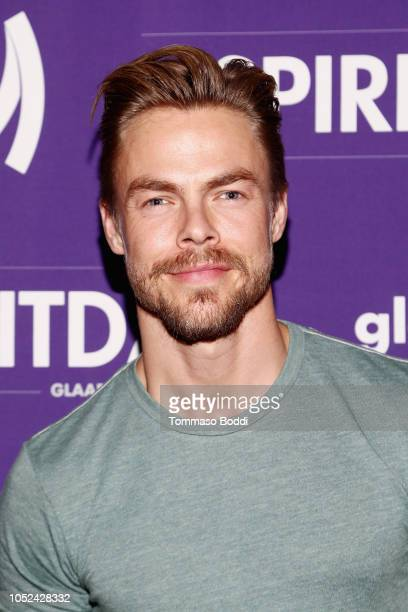 Derek Hough attends Justin Tranter And GLAAD Present 'BEYOND' Spirit Day Concert at The Sayers Club on October 17 2018 in Hollywood California
