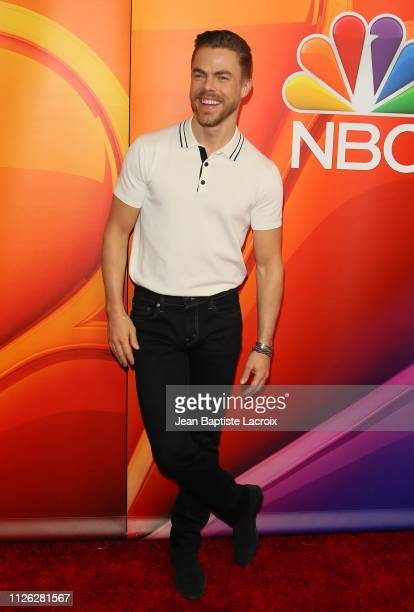 Derek Hough attends NBC's Los Angeles Mid-Season Press Junket on February 20, 2019 in Los Angeles, California.