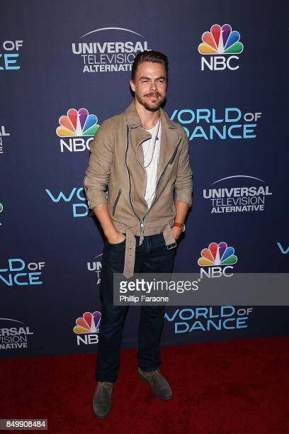 "Derek Hough attends NBC's ""World of Dance"" celebration at Delilah on September 19, 2017 in West Hollywood, California."