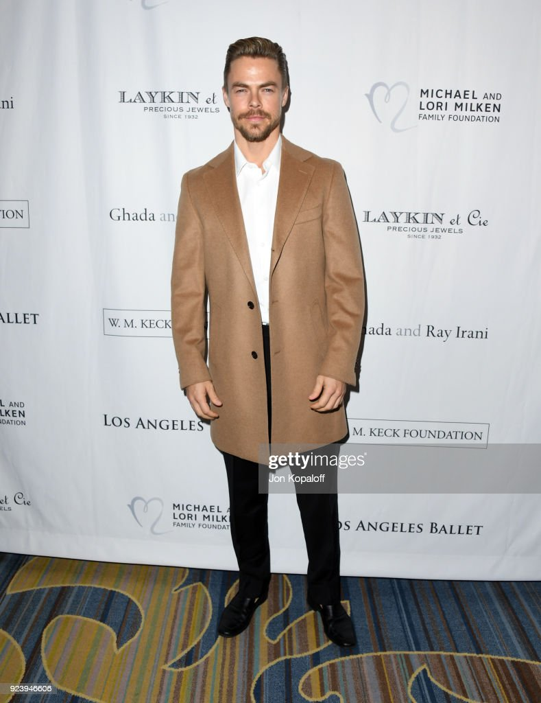 Derek Hough attends the 12th Annual Los Angeles Ballet Gala at the Beverly Wilshire Four Seasons Hotel on February 24, 2018 in Beverly Hills, California.