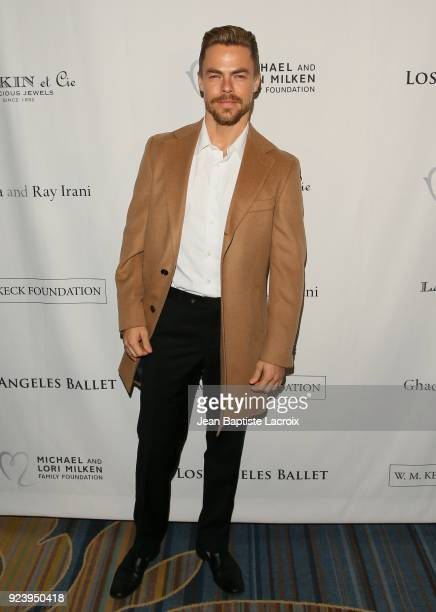 Derek Hough attends the 12th Annual Los Angeles Ballet Gala on February 24 2018 in Beverly Hills California