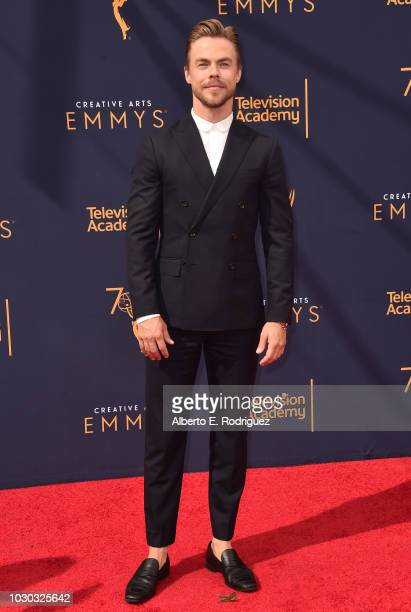 Derek Hough attends the 2018 Creative Arts Emmys Day 2 at Microsoft Theater on September 9, 2018 in Los Angeles, California.
