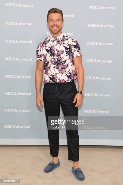 Derek Hough attends the 2018 NBCUniversal Upfront Presentation at Rockefeller Center on May 14 2018 in New York City