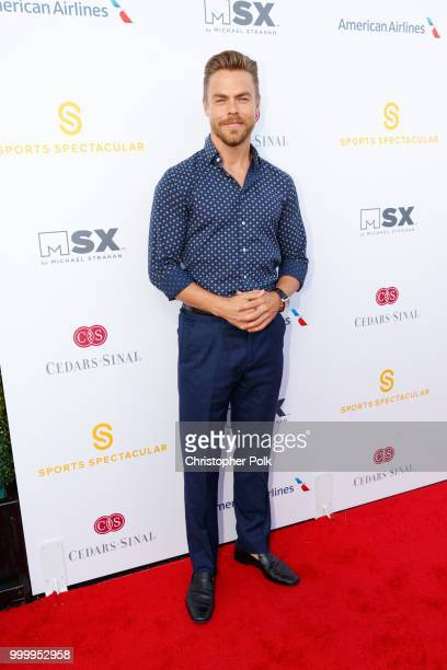 Derek Hough attends the 33rd Annual CedarsSinai Sports Spectacular at The Compound on July 15 2018 in Inglewood California