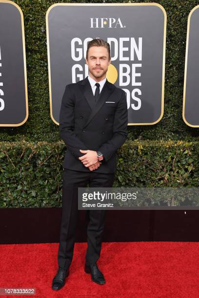 Derek Hough attends the 76th Annual Golden Globe Awards at The Beverly Hilton Hotel on January 6, 2019 in Beverly Hills, California.