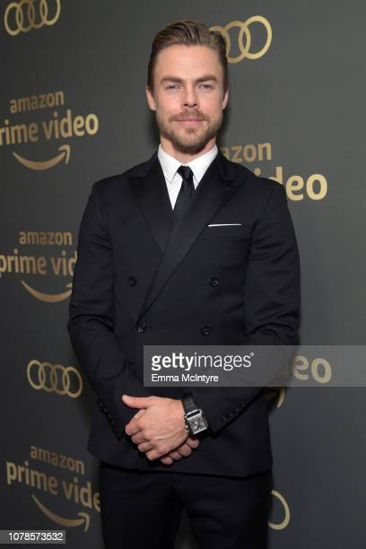 Derek Hough attends the Amazon Prime Video's Golden Globe Awards After Party at The Beverly Hilton Hotel on January 6 2019 in Beverly Hills California