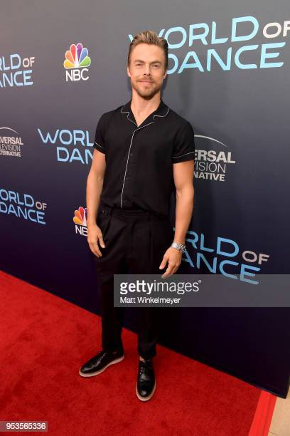 """Derek Hough attends the FYC event for NBC's """"World of Dance"""" at Saban Media Center on May 1, 2018 in North Hollywood, California."""