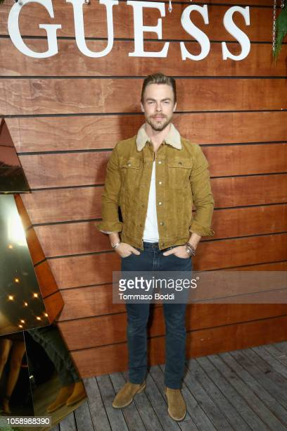 Derek Hough attends the GUESS Holiday 2018 Event on November 7 2018 in West Hollywood California