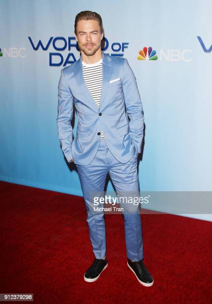 Derek Hough attends the photo op for NBC's 'World Of Dance' held at NBC Universal Lot on January 30 2018 in Universal City California