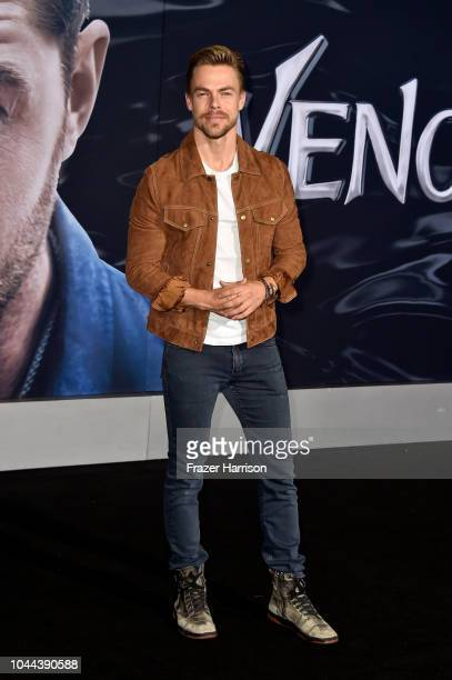Derek Hough attends the premiere of Columbia Pictures' 'Venom' at Regency Village Theatre on October 1 2018 in Westwood California