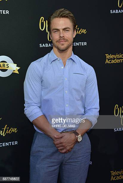 Derek Hough attends the Television Academy 70th Anniversary Celebration in Los Angeles California on June 2 2016 / AFP / CHRIS DELMAS