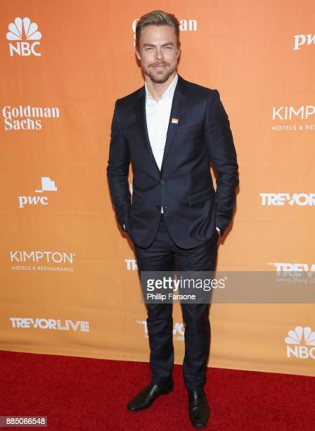 Derek Hough attends The Trevor Project's 2017 TrevorLIVE LA Gala at The Beverly Hilton Hotel on December 3 2017 in Beverly Hills California