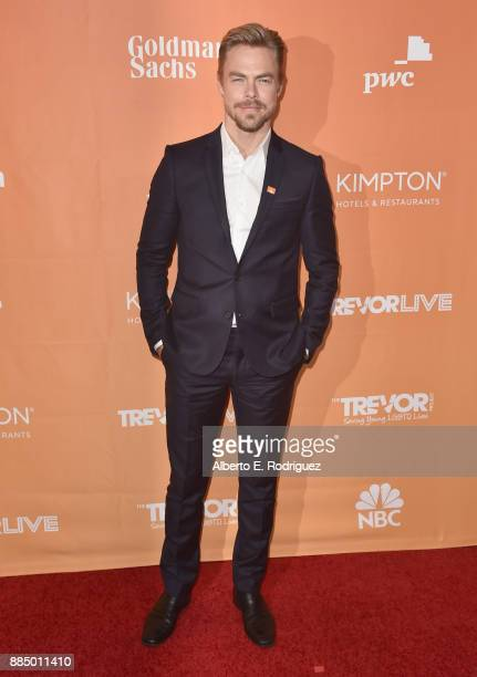 Derek Hough attends The Trevor Project's 2017 TrevorLIVE LA on December 3 2017 in Beverly Hills California