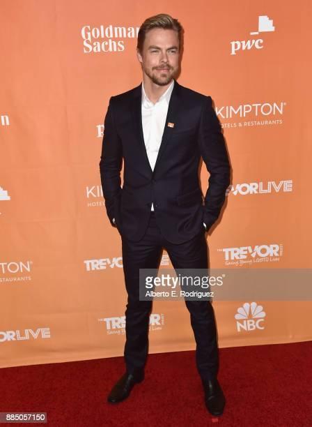 Derek Hough attends The Trevor Project's 2017 TrevorLIVE LA on December 3 2017 in Beverly Hills California