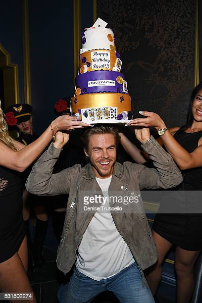 Derek Hough celebrates his birthday during the opening of Beauty Essex at the Cosmopolitan of Las Vegas on May 14 2016 in Las Vegas Nevada
