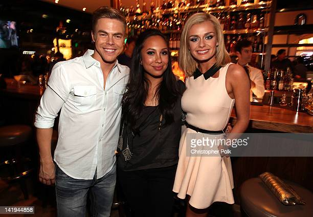 Derek Hough Cheryl Burke and Katherine Jenkins attend the Dancing With The Stars After Party At Mixology101 Hosted By Kym Johnson And Jaleel White at...