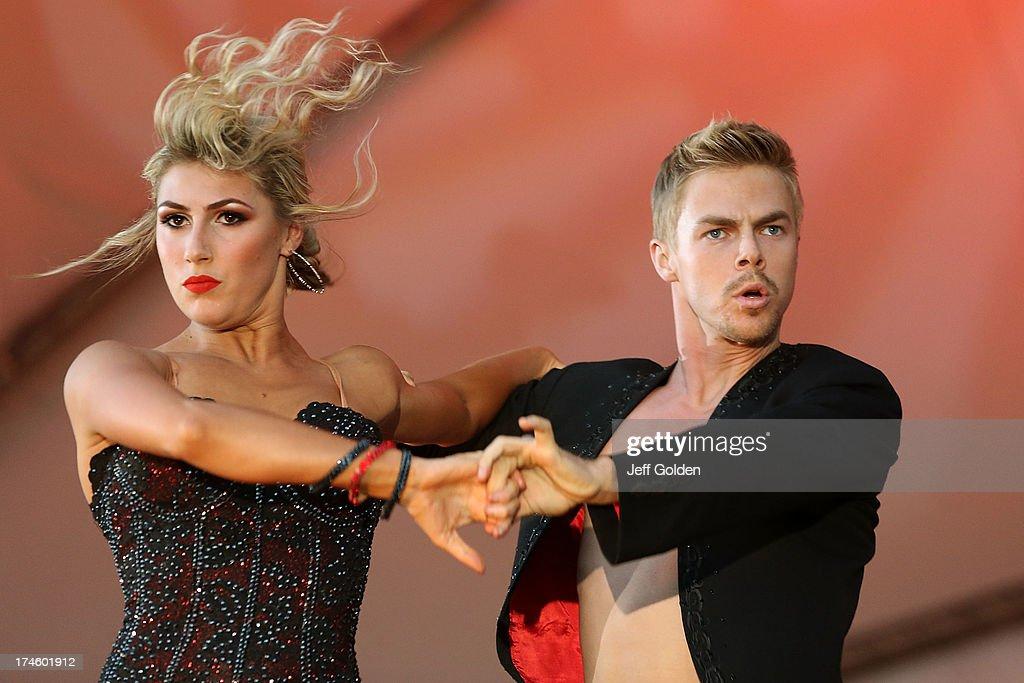 Derek Hough Dances With Partner Emma Slater During The