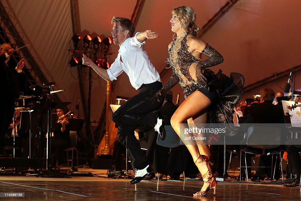 Derek Hough Dances With Partner Emma Slater To Glenn