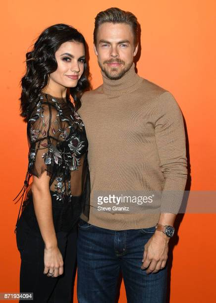 Derek Hough Hayley Erbert arrives at the Ember Launch Celebrating A Journey Through Temperature And Taste at Goya Studios on November 8 2017 in Los...