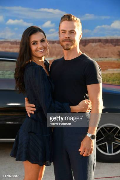 Derek Hough Hayley Erbert attend the Premiere Of Netflix's El Camino A Breaking Bad Movie at Regency Village Theatre on October 07 2019 in Westwood...
