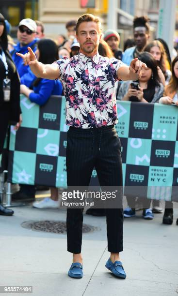 Derek Hough is seen leaving aol Live on May 14 2018 in New York City