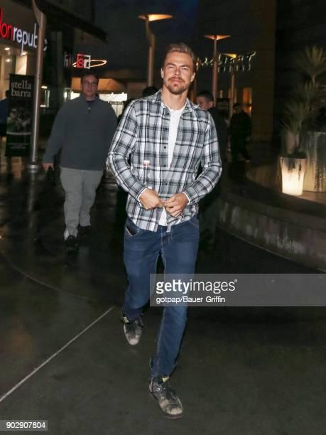 Derek Hough is seen on January 08 2018 in Los Angeles California