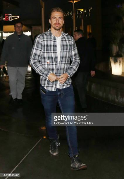 Derek Hough is seen on January 8 2018 in Los Angeles CA