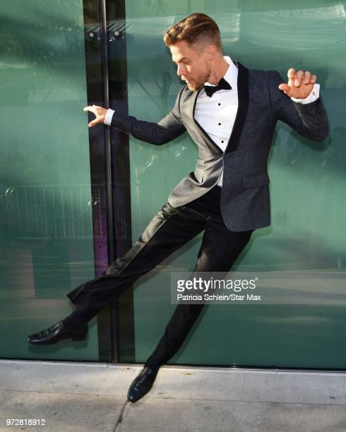 Derek Hough is seen on June 12 2018 in New York City