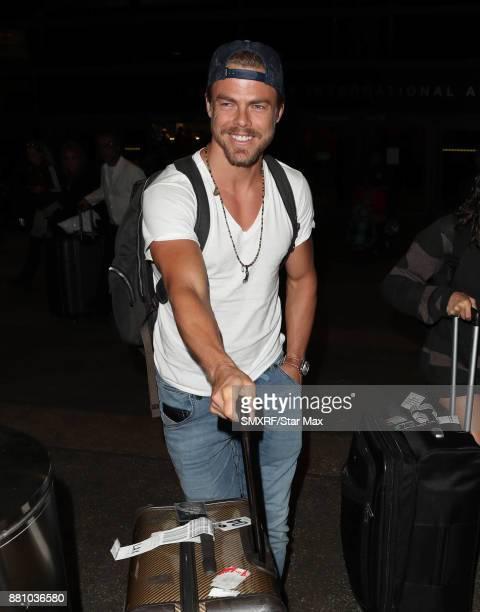 Derek Hough is seen on November 27 2017 in Los Angeles CA