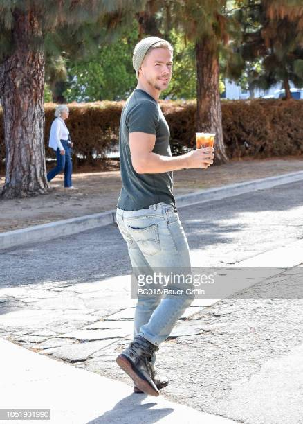 Derek Hough is seen on October 11 2018 in Los Angeles California